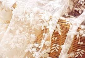 flower embroidered nylon mesh lace fabric wedding bridal dress
