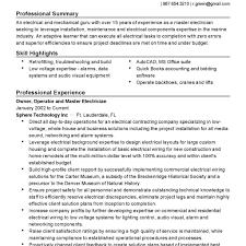 pca resume sample
