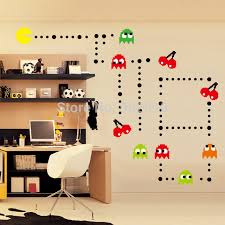 listed in stock pacman wall mural sticker kit retro vinyl kids