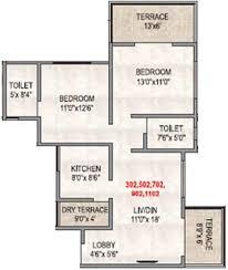 Vastu Floor Plan by Vastu River Nest Phase 2 By Vastu Buildcorp In Ravet Pune Price