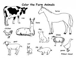 the elegant as well as beautiful farm animals coloring pages