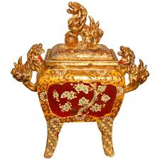 foo lions for sale large japanese satsuma censer with foo lions for sale at 1stdibs