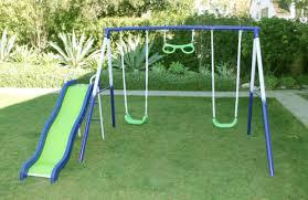 How To Build A Backyard Swing Natus Inc Sierra Vista Metal Slides And Swing Set U0026 Reviews Wayfair
