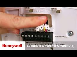 honeywell wi fi thermostat diy installation substitute g wire for