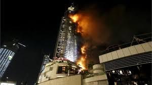 bureau de recrutement dubai dubaï spectaculaire incendie dans un hôtel avant les festivités