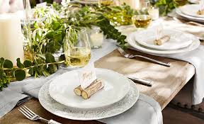 how to set an eclectic thanksgiving table pottery barn