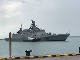 Singapore Navy Flag Indian Warships Touch Base In Singapore Ahead Of Joint Drill For