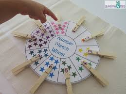 free printable number match counting wheel learning 4 kids