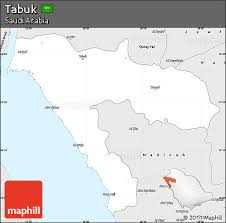 map of tabuk free silver style simple map of tabuk