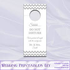 wedding door hanger template diy silver chevron doorhangers