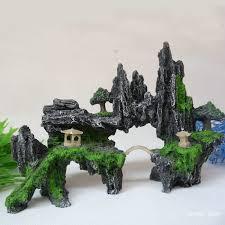 durable wholesale landscaping aquarium decoration resin artificial