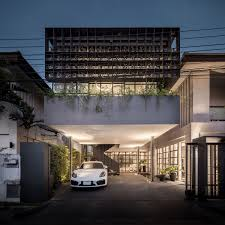 house with studio anonym studio renovated bangkok u0027s old house with steel flower beds