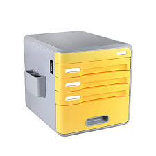 Yellow Filing Cabinet Uk Coded Lock 4 Drawer Desk Storage Unit With Drawer Label Evertop