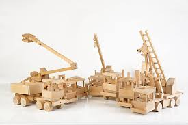 wooden kit model trucks wooden toys and planes on