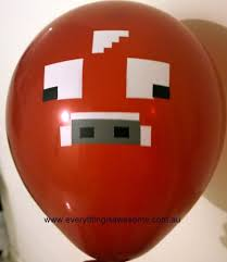 minecraft balloons everything is awesome new 10 pcs minecraft cow brown balloons