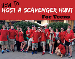 how to plan a scavenger hunt for teens southern plate