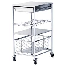 Ikea Kitchen Carts by Ikea Kitchen Stainless Steel Shelves Attach To Between The