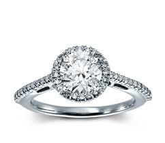 5 Carat Cushion Cut Engagement Rings Halo Diamond Engagement Ring In Platinum 1 5 Ct Tw Blue Nile