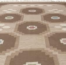 scandinavian folklore carpets vintage swedish flat weave rug