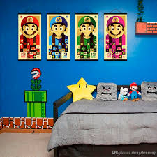 mild art anime games colorful mario bros set vintage japanese mild art anime games colorful mario bros set vintage japanese cartoon cute pop poster prints kids room home wall decor gift canvas paintings video game pop