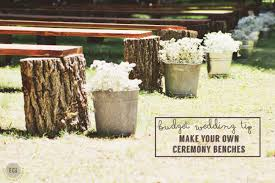 diy wedding seating rustic log benches ec2blog