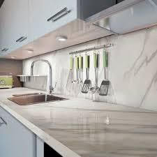 gres cerame plan de travail cuisine plan de travail en grès cérame de cuisine blanc marmi