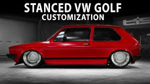 slammed volkswagen gti midnight club la slammed vw golf gti 1983 customization youtube