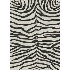 Zebra Shower Curtain by La Rug Supreme Zebra Skin Black And White 7 Ft 10 In X 11 Ft 3