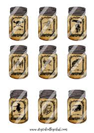 halloween mason jar digital collage sheet halloween images for
