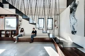 Living Room With Stairs Design A Modular Apartment In Tel Aviv With A Cool Staircase Design Milk