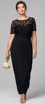 black dresses wedding 45 plus size wedding guest dresses with sleeves webb
