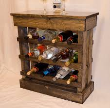 rustic wine cabinets furniture rustic wine rack floor cabinet with light holds 12 bottles