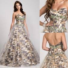 2016 camo wedding dresses bridal gowns sweetheart gold armygreen
