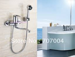 Bathtub Fixtures Wall Mounted Bathtub Faucet Mixer Tap With Hand Shower Sprayer