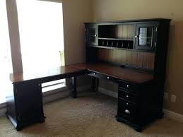 Desk With Hutch Black Black Computer Desk With Hutch Eatsafe Co