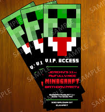 graphic design birthday invitations top 12 minecraft birthday party invitations that maybe you are