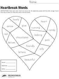 heartbreak words free printable worksheet paging supermom