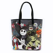 loungefly x the nightmare before character tote bag