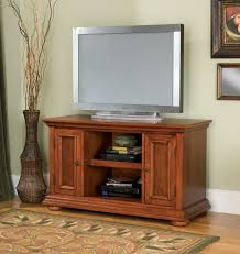 Cherry Wood Shelves by Furniture Art Deco Cherry Wood Tv Stand With Two Shelves Between