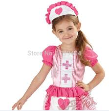 Halloween Costumes Girls Age 2 Cute Nurse Dress Apron Girls Fancy Dress Uniform Kids