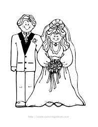 bride groom coloring pages coloring bride