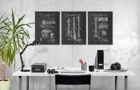 Music Decor by Guitar Patent Prints Set Of 3 Guitar Design Music Room