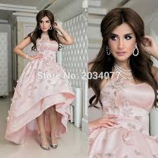 evening wedding guest dresses high low satin pink evening dresses wedding guest