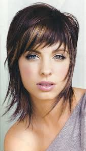 haircut for thick hair oval face mid length hairstyles medium