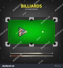 Billiard Balls Triangle Two Cues Stock Vector