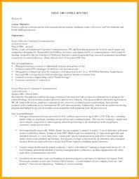 exle of resumes exle of objectives in a resume