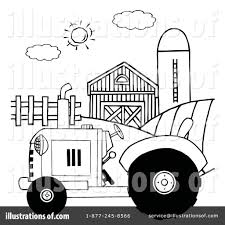 tractor clipart 102282 illustration by hit toon