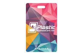 Business Card Luggage Tags Laminated Bag Tags My Plastic Business Card
