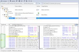 sql compare two tables for differences sql server data tools visual studio