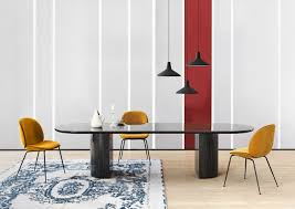 Orange Table L Moon Dining Table Dining Tables From Gubi Architonic
